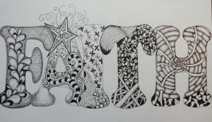 Faith (zentangle doodle)