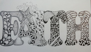 Faith (zentangle doodle)