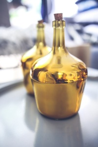 Shiny gold bottle